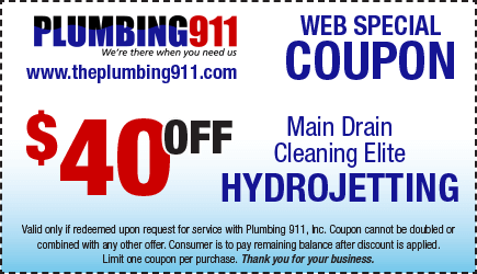 Hydrojetting Coupon Plumbing 911