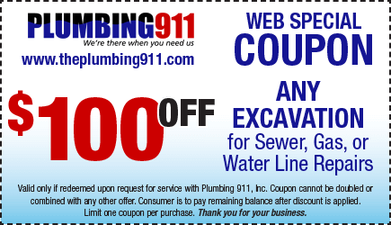 Excavation Coupon Plumbing 911