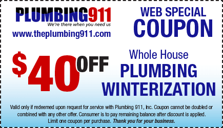 Plumbing Winterization Coupon Plumbing 911