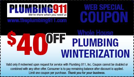 Plumbing Winterization Coupon Plumbing 911