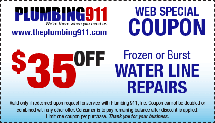 Water Line Repairs Coupon Plumbing 911