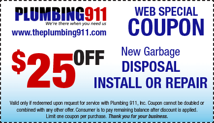 Garbage Disposal Coupon Plumbing 911